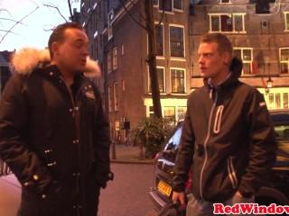 Massive Amsterdam call girl cockriding tourist porn video