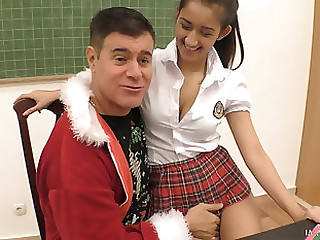 Bending yield a schoolgirl Darcia Lee for some brutal pussy draining