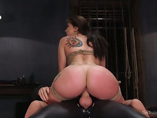 Plump beauty with nice big booty Mandy Star-gaze is tied up and fucked hard
