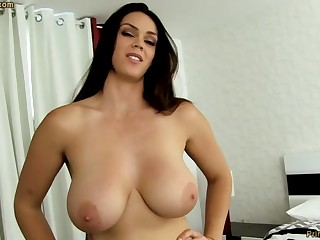 Monster dark-haired with fat funbags, Alison Tyler luvs to deep-throat meatpipe with an increment of taste some new jizm
