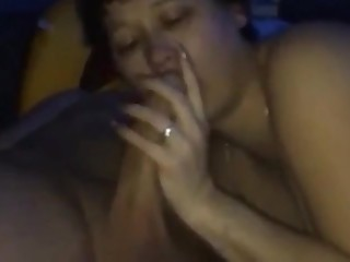 Pregnant wife gets fucked by another husband in girlfriend's house