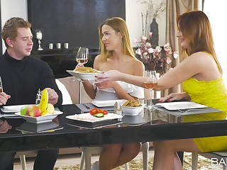 Eva Berger and Alexis Crystal attempt mesmerizing threesome sex