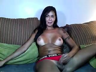 Latin tranny Jessy Dubai fucked sexy shemale Eva Cassini