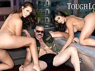 TOUGHLOVEX Brooklyn and Bella pleasing master Karl