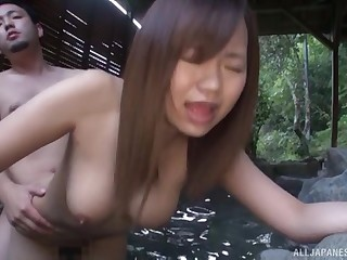 Cute Japanese cooky Yanagawa Mako gives hound and gets fucekd