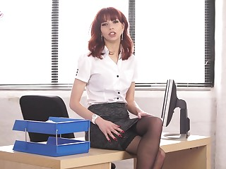 That office whore is a gift to helpfulness and she loves property naked at work