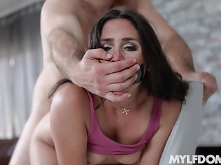 Step son humps her fine ass and makes mommy come fast