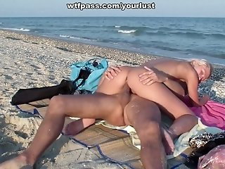 Chief twosome having mischievous hookup joy right on the beach