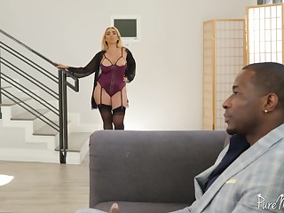 Kylie loves them big added to black added to she is one hot sexual MILF