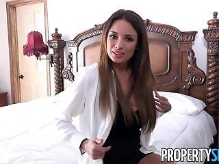 PropertySex French honey Anissa Kate smashes Homeowner