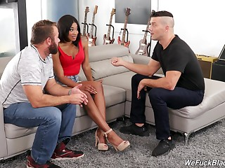 Hot Spanish guy teaches costs how in the world to fuck bootyful black wife Lala Ivey