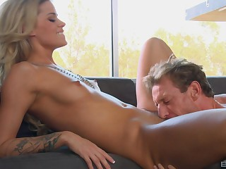 Remarkable broadcast of consummate orgasms for the anorectic blonde
