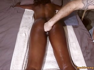 raunchy amateur sex student with Seethe Booty win Massage until Assfucking Creampie