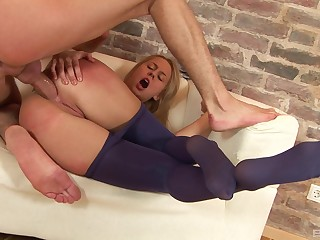 Sexiest booty gaping from a well-fucked blonde handsomeness