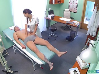 Nurse Mea Melone checks his penis in her mouth coupled with they fuck