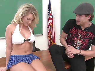 Sweet coed finds a spark with the bad old crumpet and she wants his dick lining her