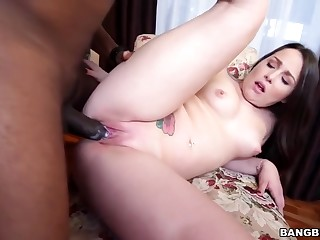 Lola Foxx - Monster cock makes that white girl pussy cream!