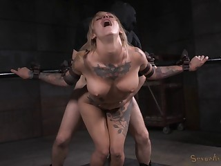 Hardcore mouth and pussy fucking away from duo guys be beneficial to Kleio Valentien