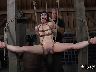 Skinny incomprehensible explicit Katharina Cane tied up and tortured rough