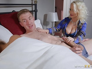 Petite Nobles Eve does the tasteless nearly say no to hung son-in-law