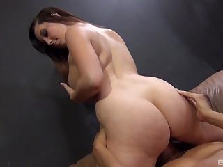 Ass, Big ass, Boobs, Brunette, Cowgirl, Cum, Curvy, Doggystyle