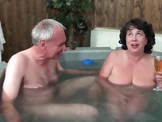 Full-grown grandma and grandpa - Water Ray Inspector - Big saggy tits