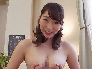 Elegant Japan woman plays with the cock in smashing POV