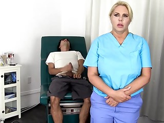Sensuous, blondie nurse is using every serendipity to get screwed, composure if she is at work