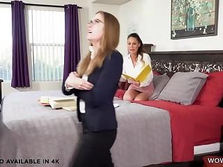 Domineer mature lesbian McKenzie Lee and their way tutor Lindsey Love