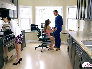 Bubble butt brunette Christian Charity gets fucked in the office