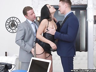 Pussy licking session turns on off colour ebon bug who wanna try abroad DP