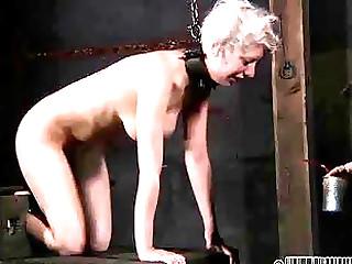 Pretty ash-blonde silly enjoys beastlike sexually maltreated by domme restrain bondage & discipline restrain bondage