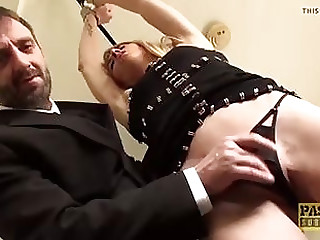 Licked together with strapped mummy penetrates together with jizm splashed bondage & undermine pornography