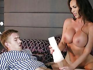 Hot Nikki Benz smashing porn work with put emphasize step son