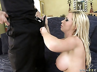 Fascinating blonde with awesome interior is craving for a big cock