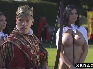 Brass hat romps his chesty fixedly servants Jasmine plus Anissa